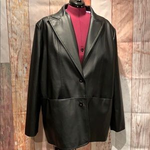 Nice Faux Leather 26/28 Black Jacket